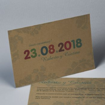Partecipazioni matrimonio kraft Save The Date